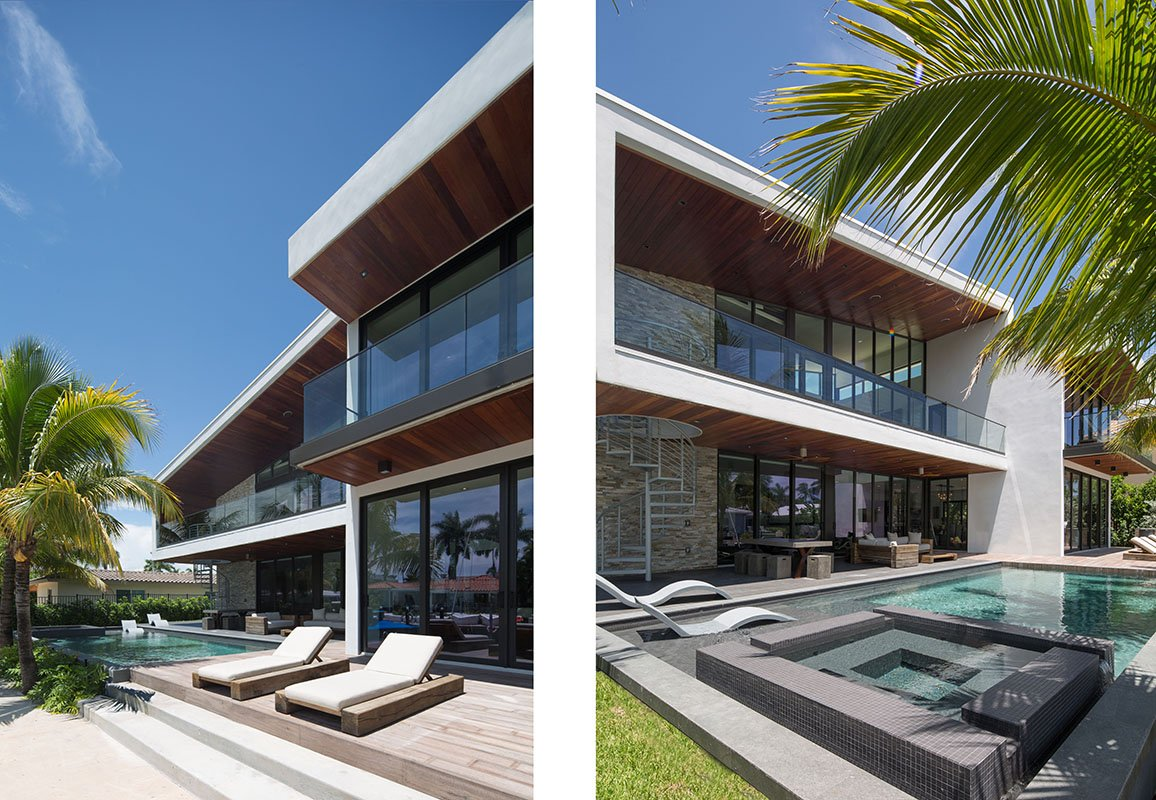 Exterior Architecture terrace view project in Boca Raton, Florida