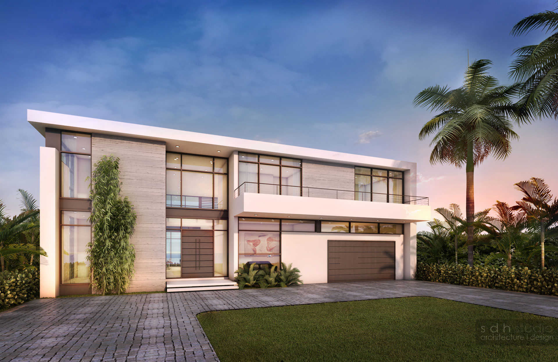 Exterior Architect front view project in Eastern Shores, Florida