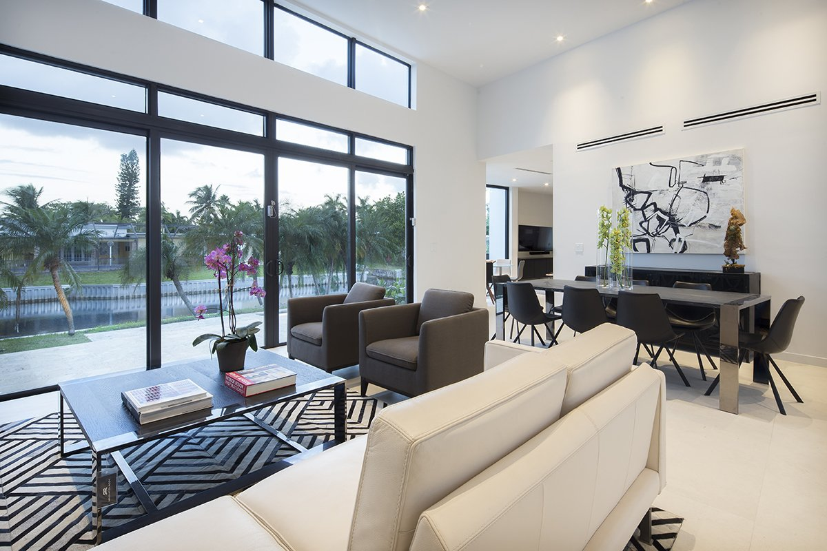 Living Room Front View Interior Design project in Enchanted Lakes, Florida