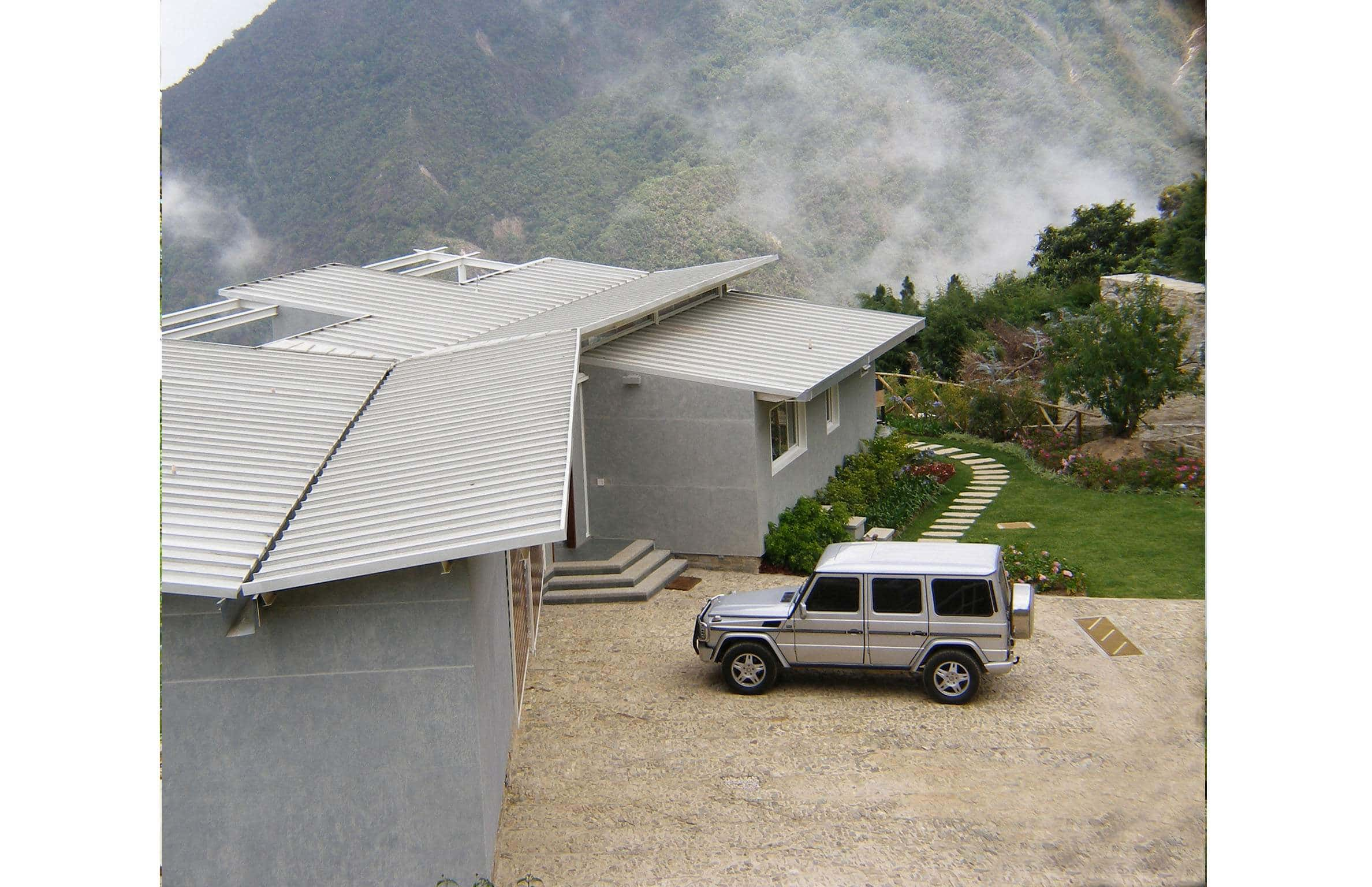 Exterior Architecture back view project in Galipan El Avila, Venezuela