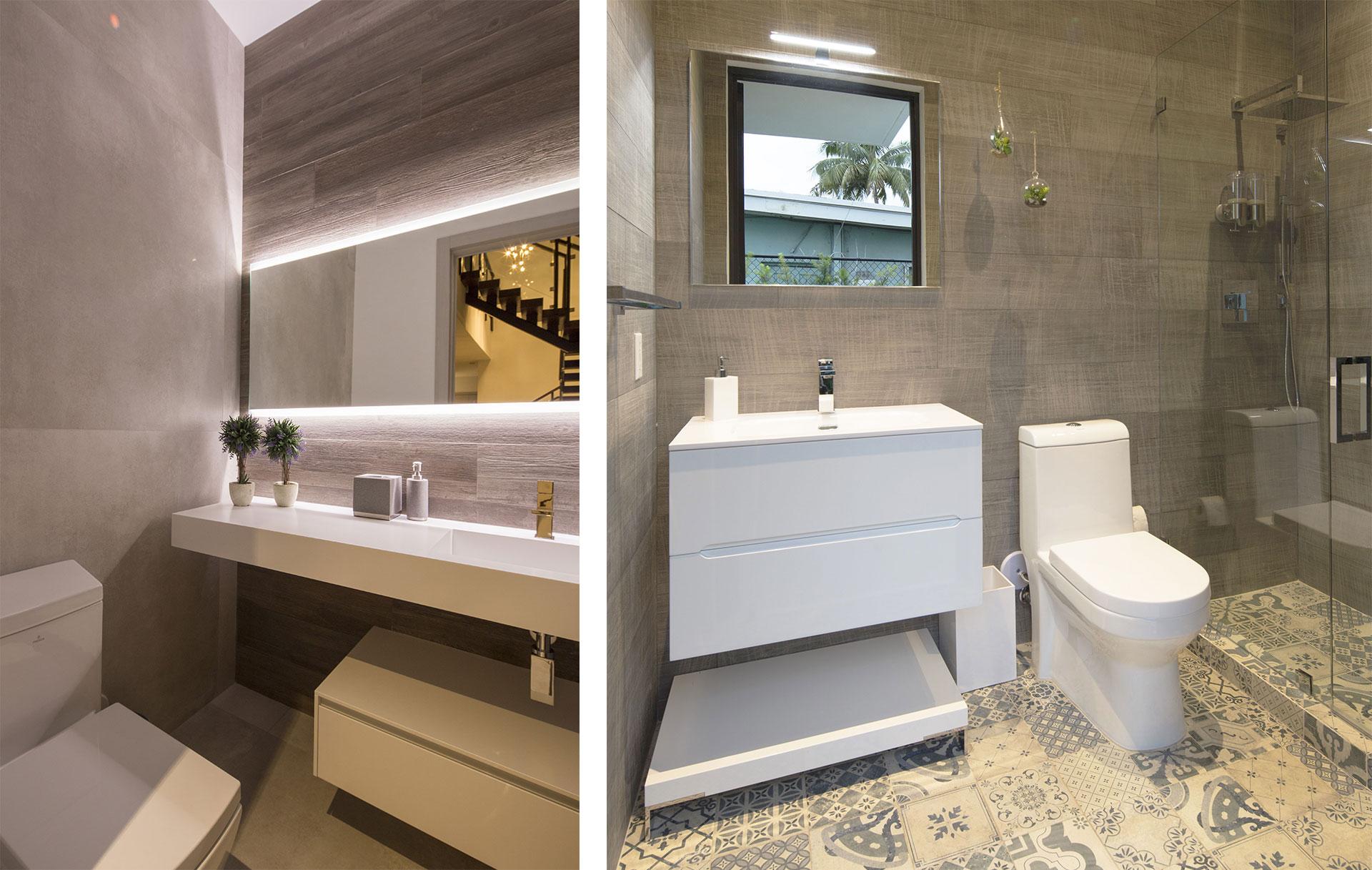 Bathroom Front View Interior Design project in North Miami Beach, Florida