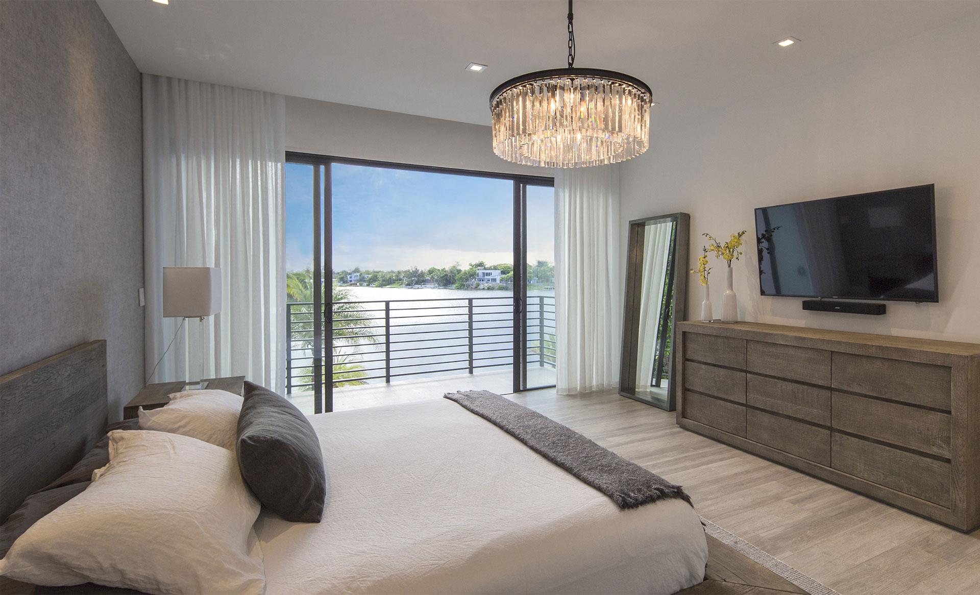 Bedroom View Interior Design project in North Miami Beach, Florida