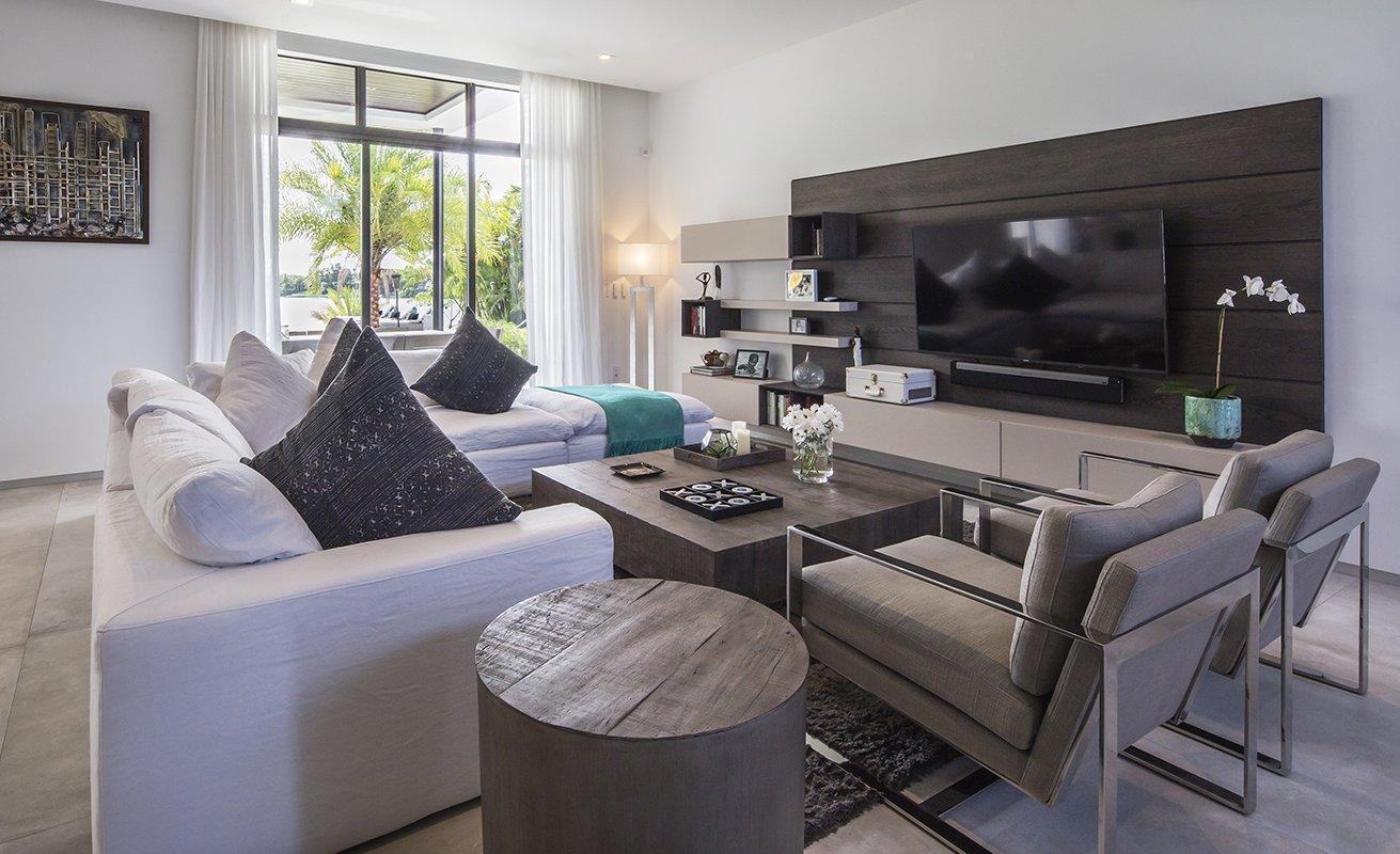 Living Room Front View Interior Design project in North Miami Beach, Florida