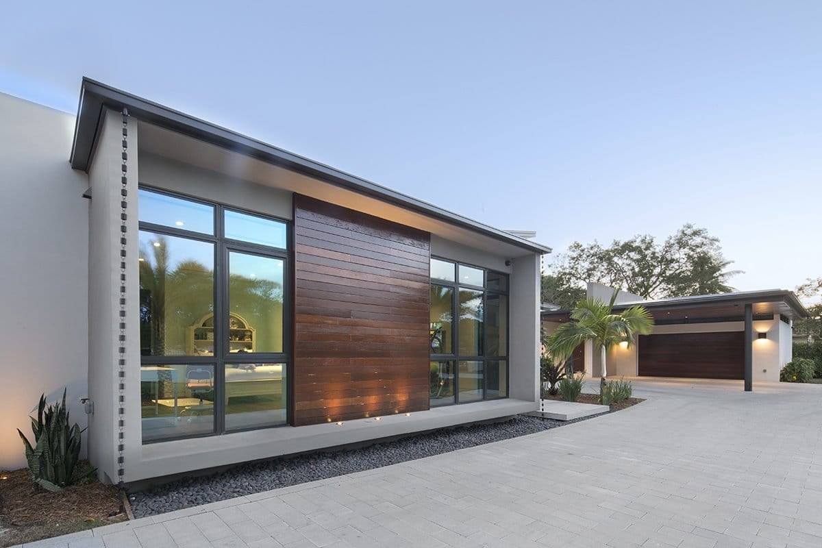 Front View Exterior Architecture project in Pinecrest, Florida