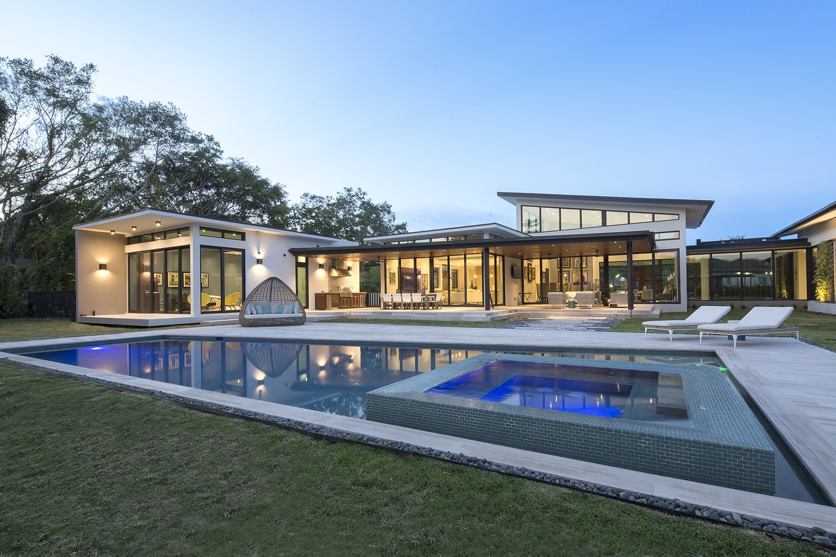 Terrace View Exterior Architecture project in Pinecrest, Florida