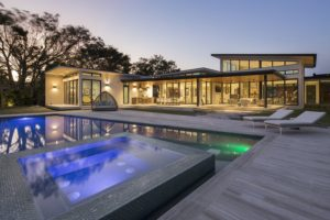Terrace Side View Exterior Architecture project in Pinecrest, Florida