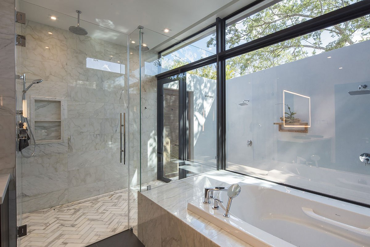 Bathroom Side View Interior Design project in Pinecrest, Florida