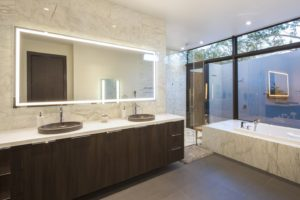 Bathroom Back View Interior Design project in Pinecrest, Florida