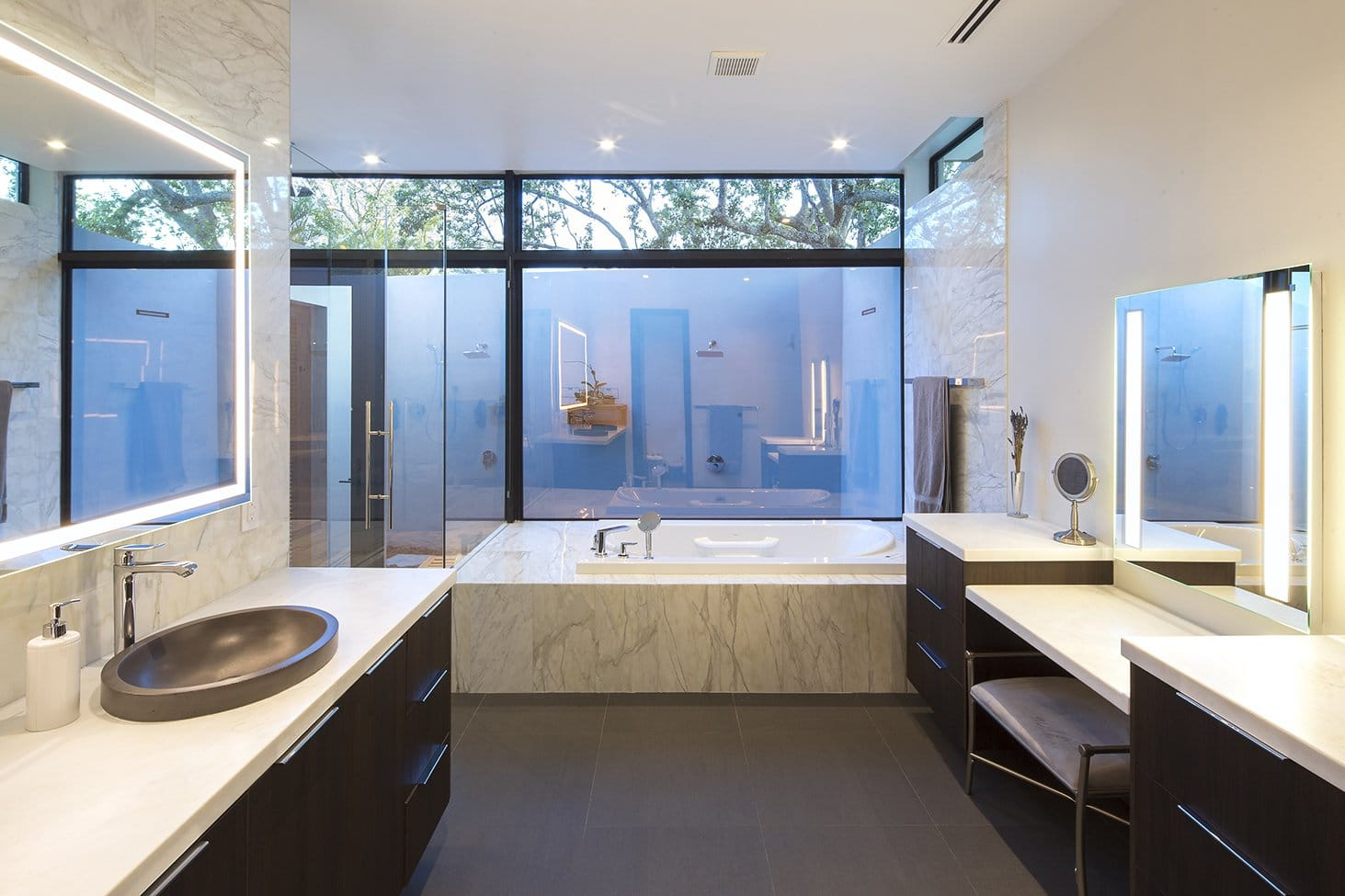 Bathroom Front View Interior Design project in Pinecrest, Florida