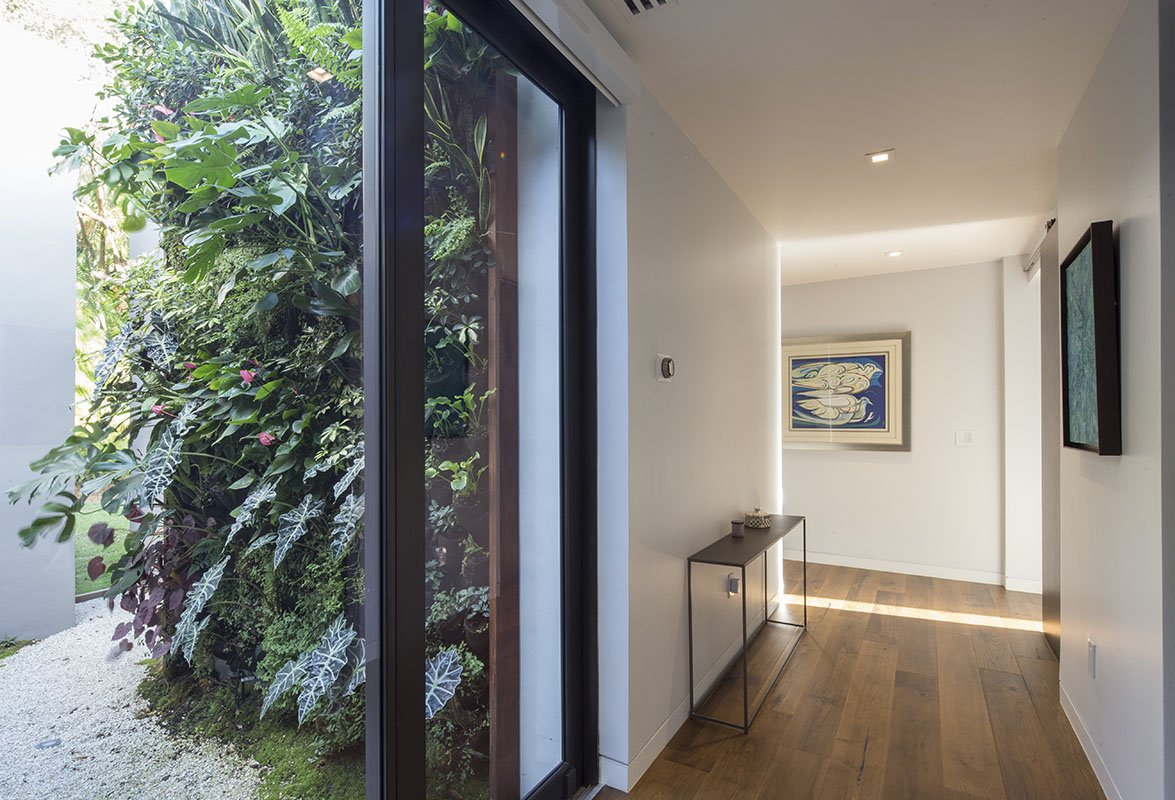 Hall Side View Interior Design project in Pinecrest, Florida