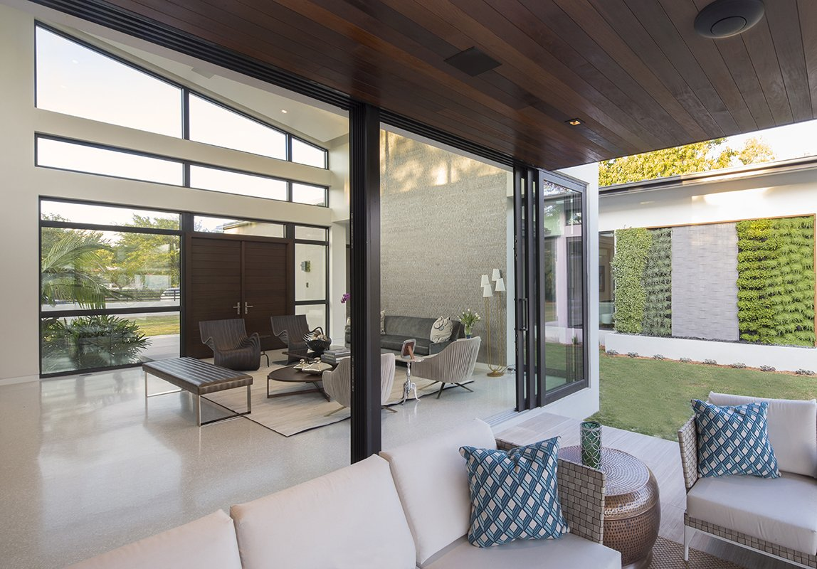 Living Room and Terrace View Interior Design Pinecrest, Florida