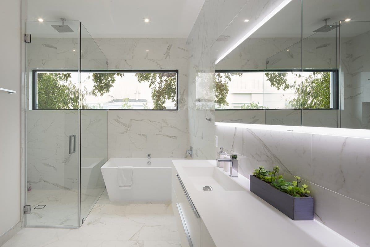 Interior Design bathroom side view project in Sky Lake I, Florida