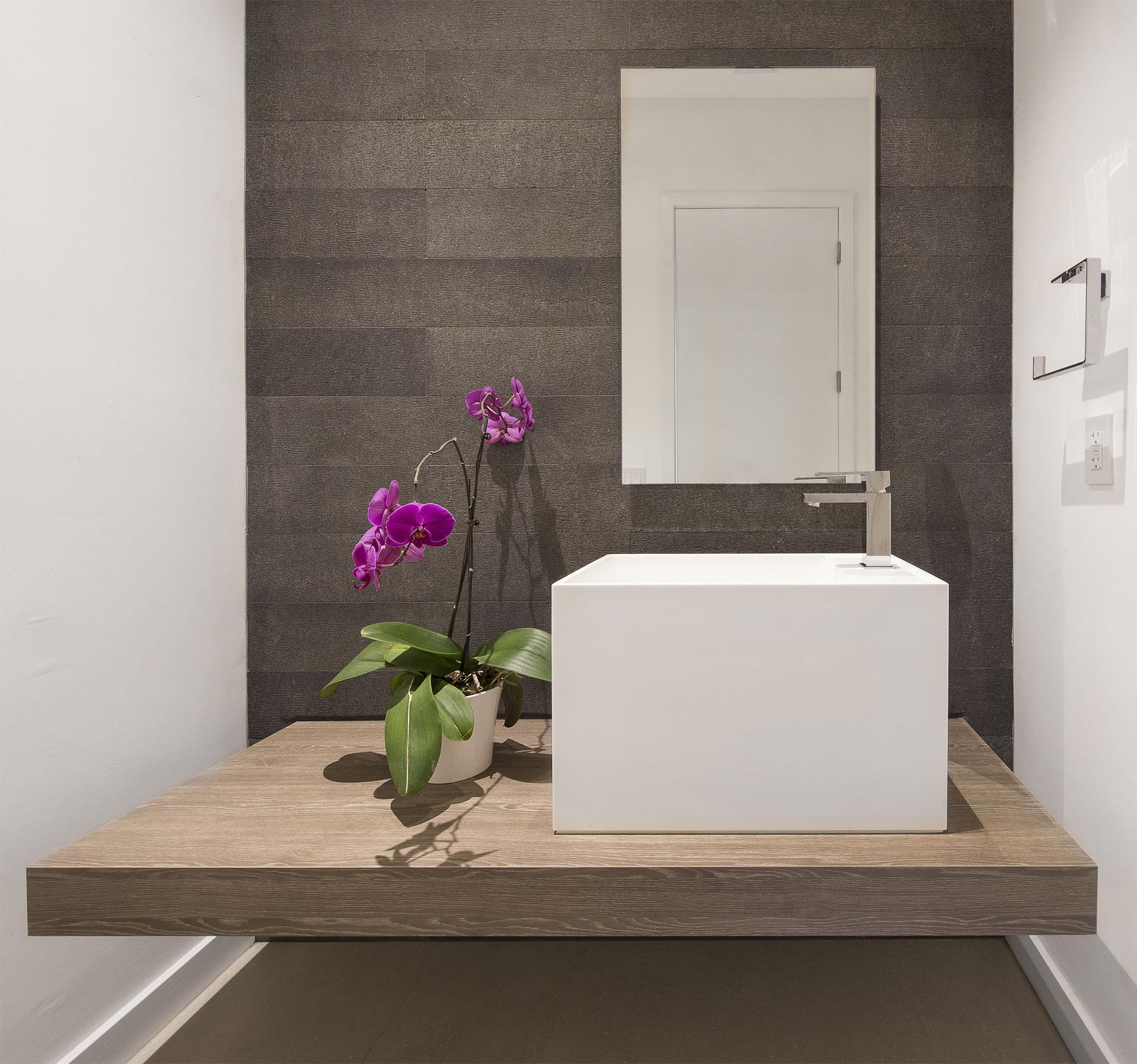 Interior Design bathroom view project in Sky Lake I, Florida