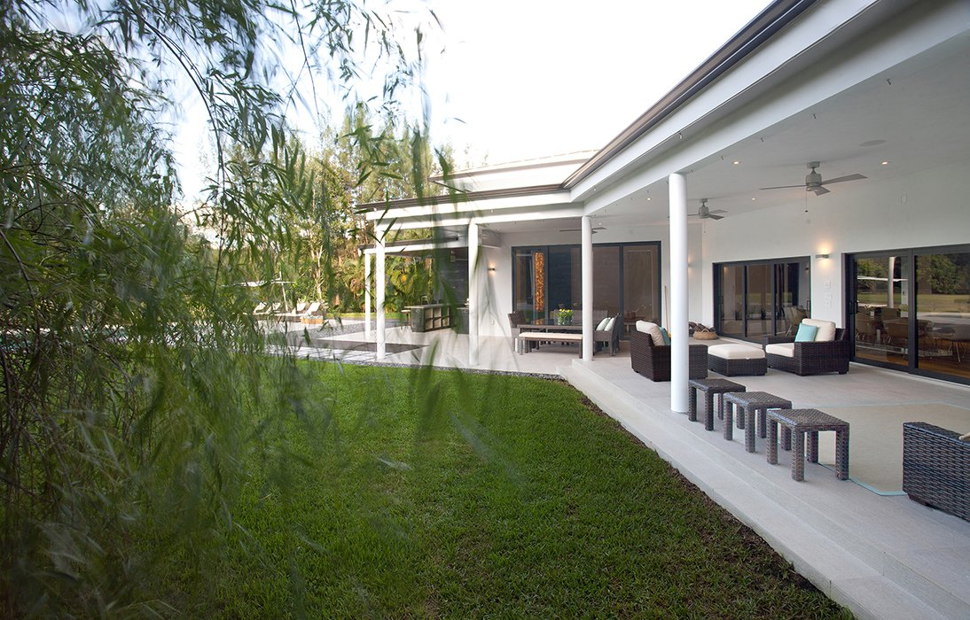 Exterior Architecture terrace side view project in Southwest Ranches, Florida
