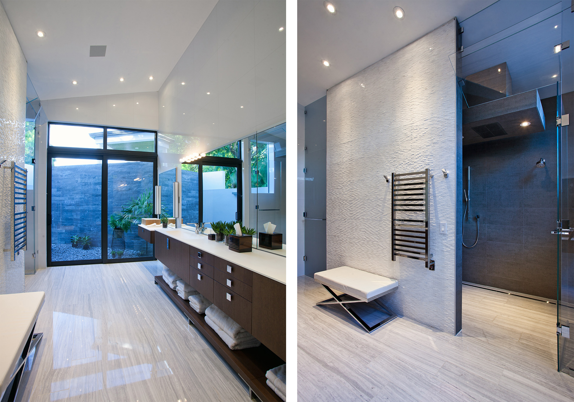 Interior Design bathroom side view project in Southwest Ranches, Florida
