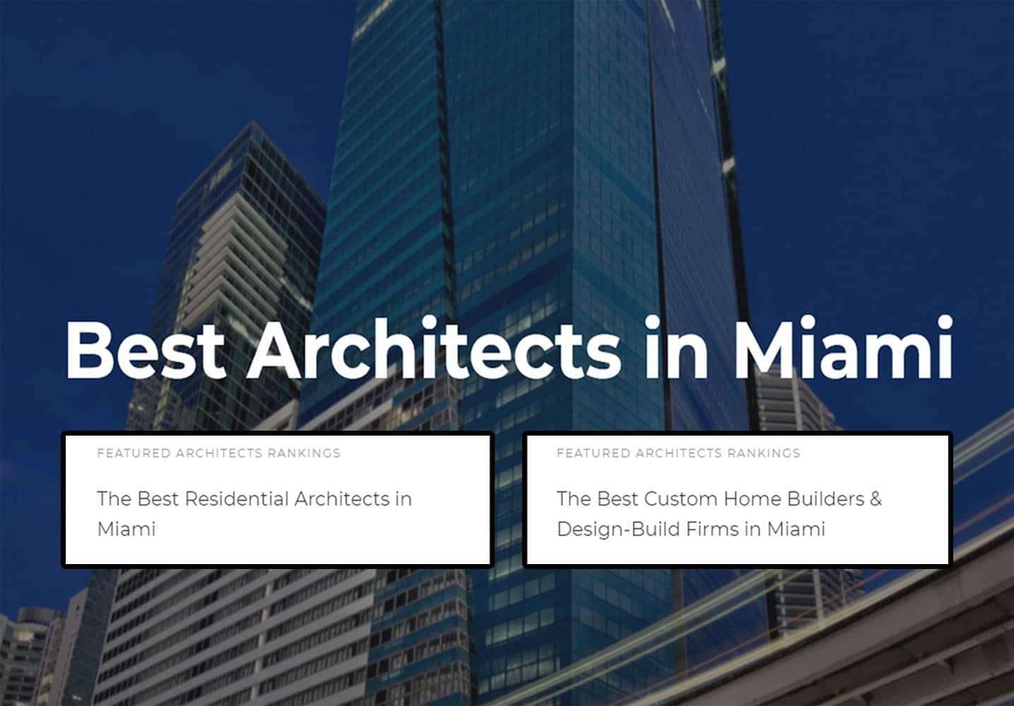SDH Studio selected as one of the top 10 Best Architects in Miami