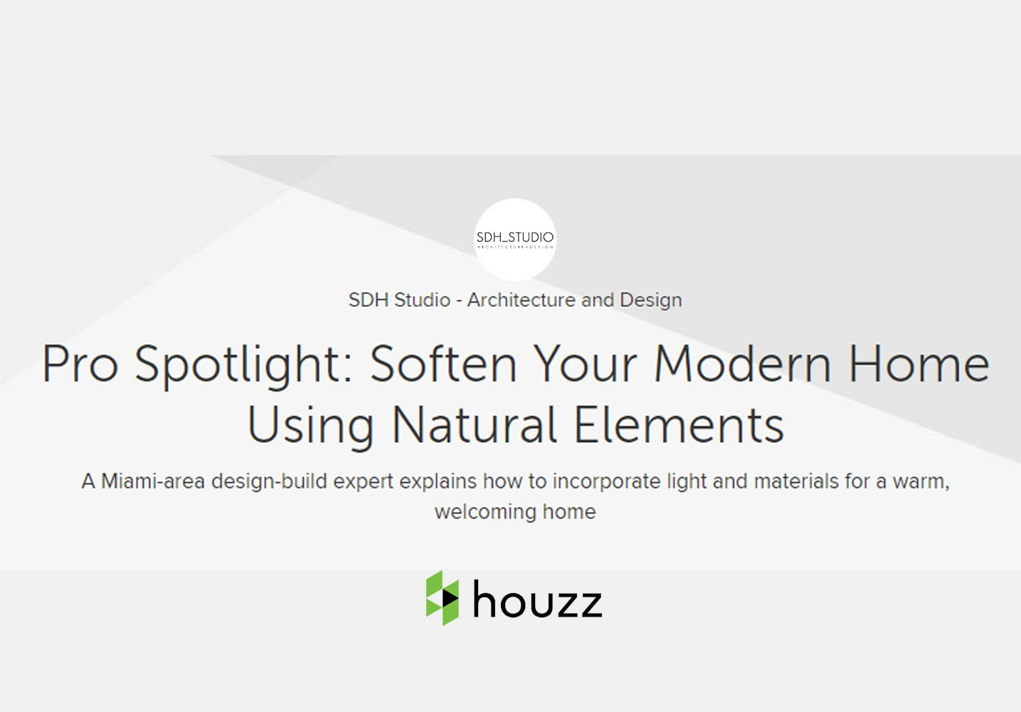 Soften Your Modern Home Using Natural Elements
