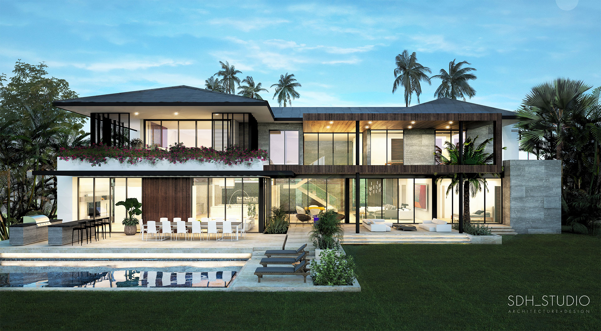 Exterior Back Architecture and Construction Administration project in Bal Cross, Florida