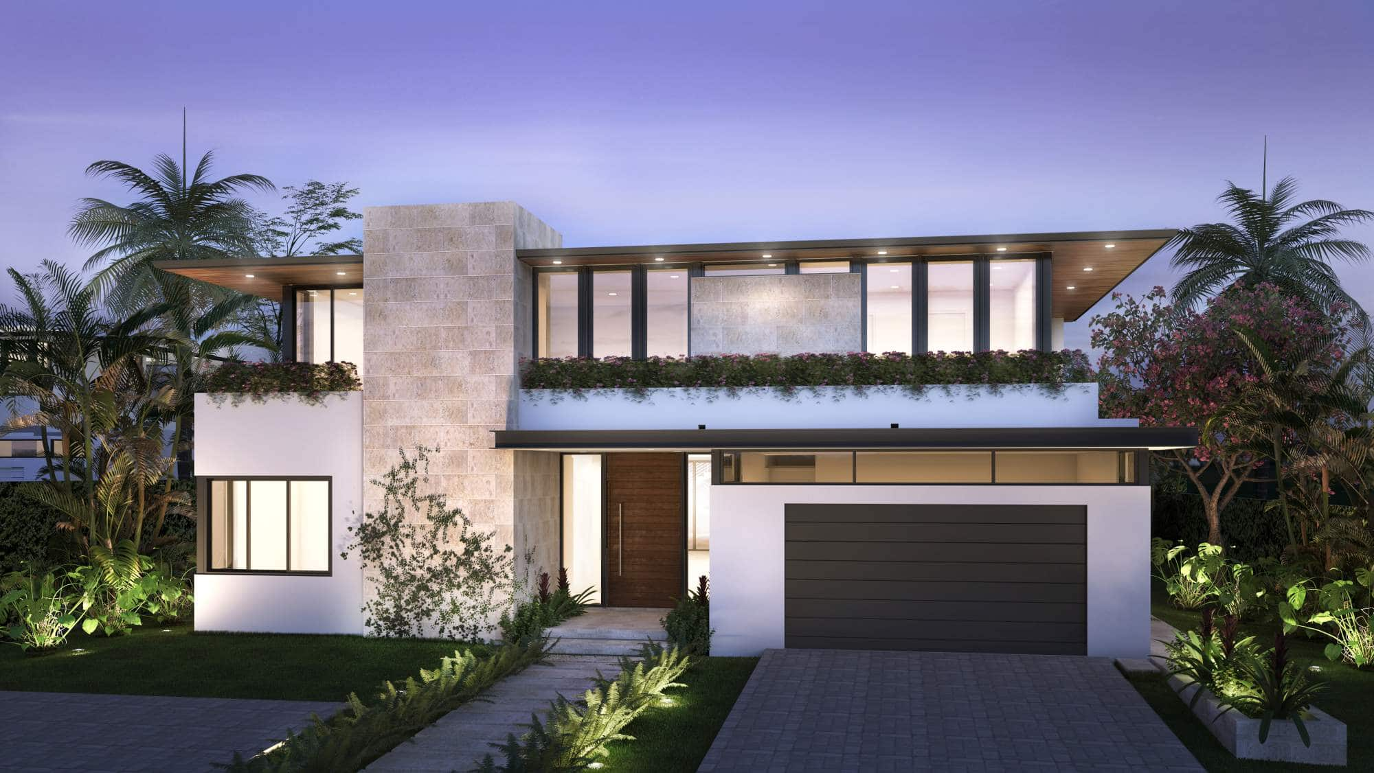 Architecture project in 577 Golden Beach Drive Miami, Florida