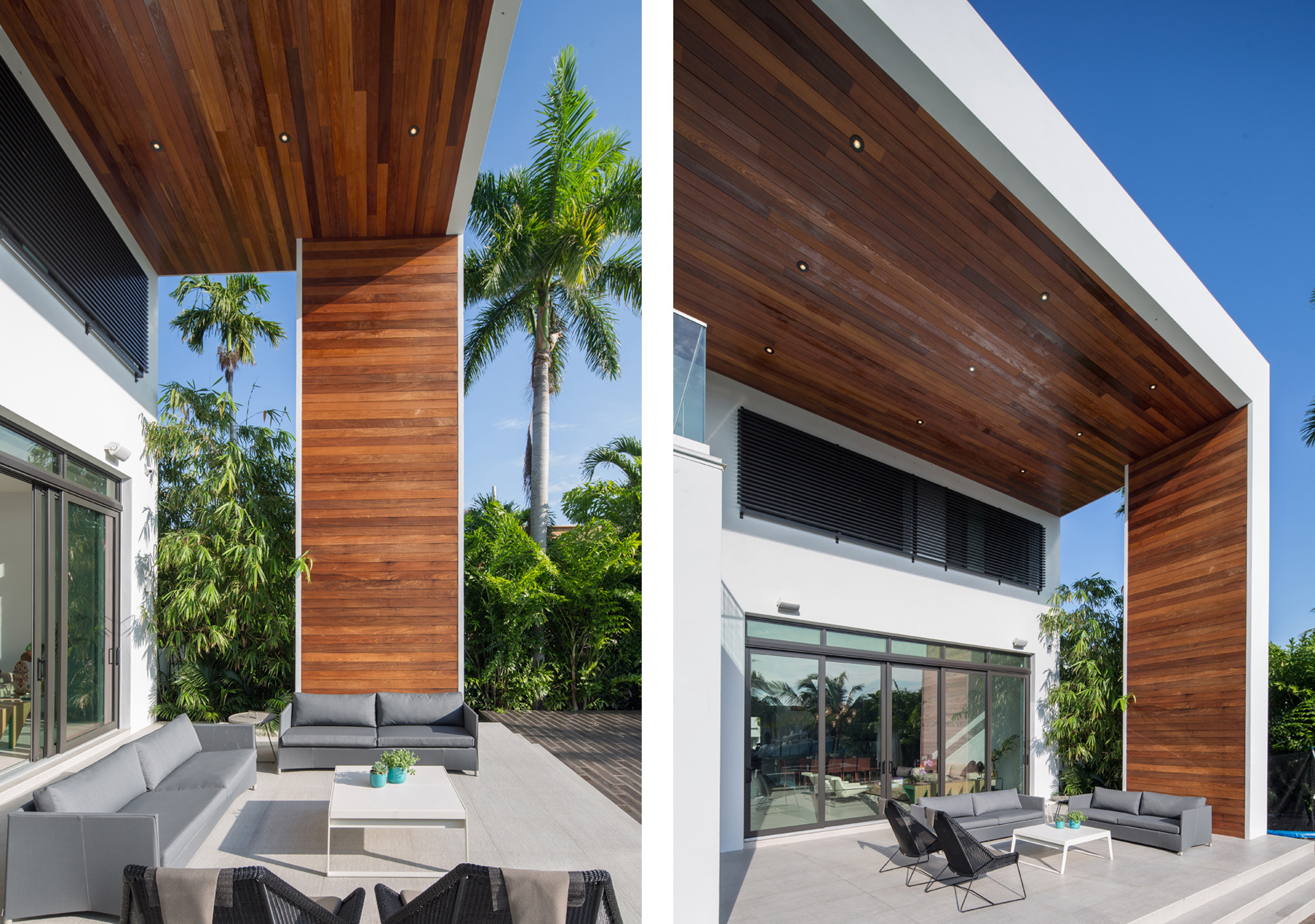 Exterior Architecture terrace view project in 475 Center Island Drive, Florida