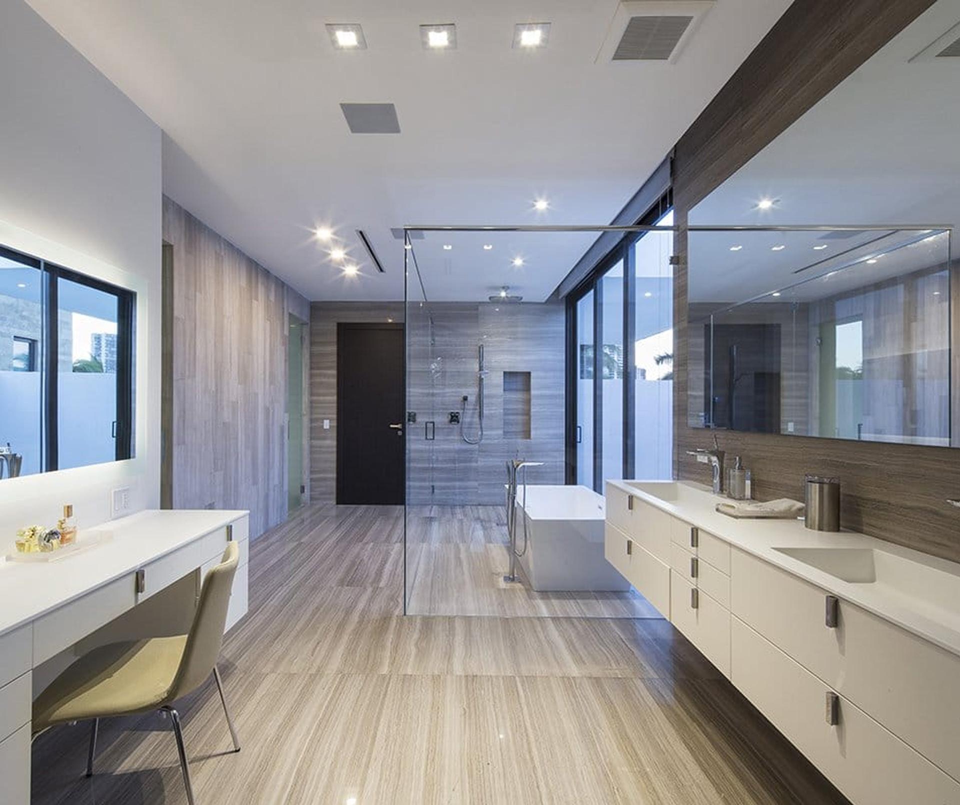 Bathroom View Interior Design project in 345 Golden Beach Drive, Florida