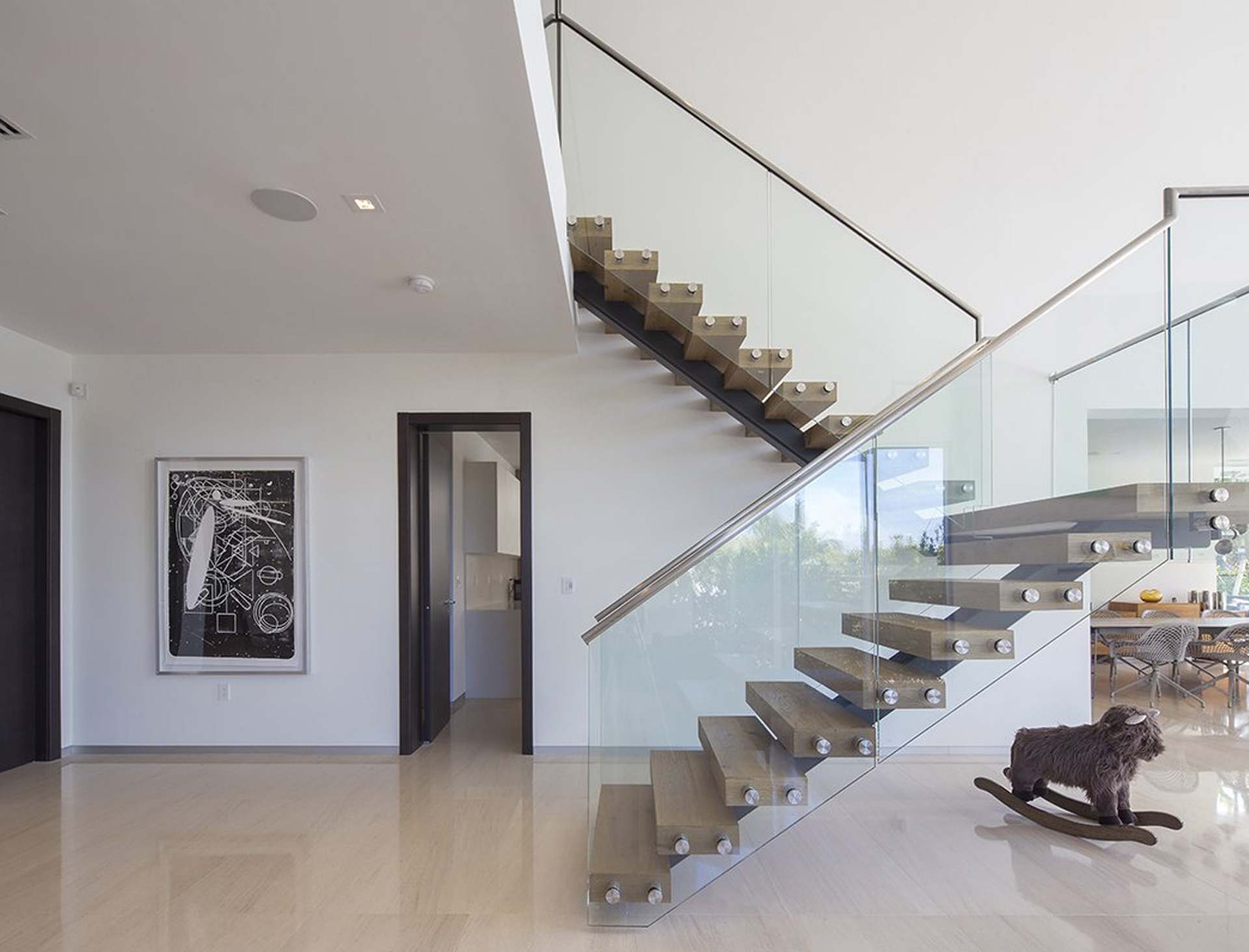 Hall View Interior Design project in 410 Golden Beach Drive, Florida